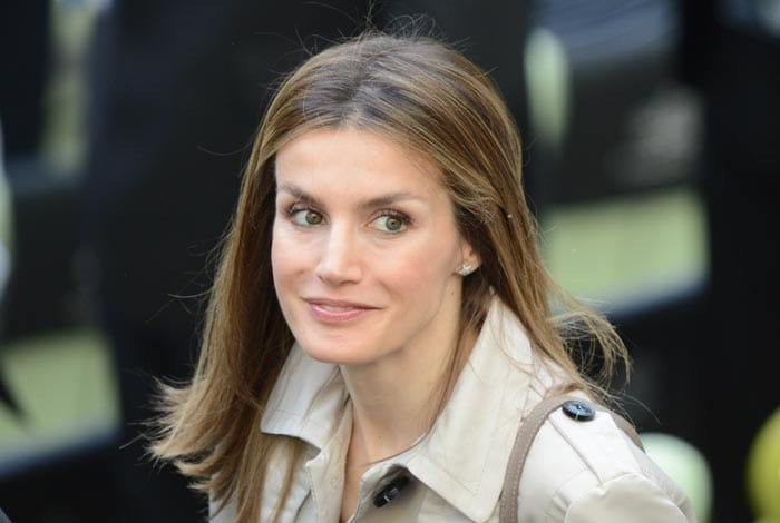 Spain's Princess Letizia was also present for the Euro 2012 championships football match between Spain and Italy. (AFP Photo)