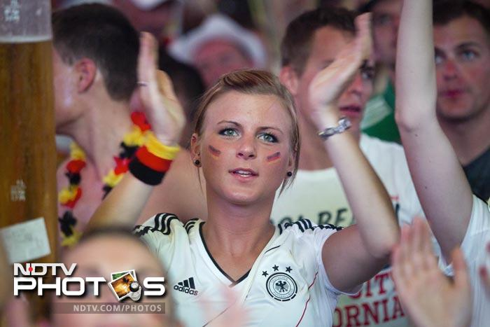German fans were clearly behind their team as they keenly followed every moment of the game. (AFP Photo)