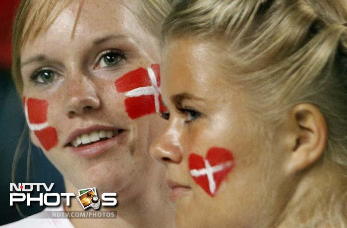 Crazy fans are all over. Europe is no exception. Body paint knew no gender; screams knew no volume. A look at fan-frenzy at the Euro 2012 qualifiers: (AFP and AP images)