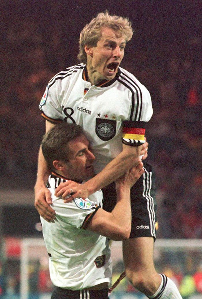 1996 gave the Germans a chance to redeem the 1992 loss as well as the loss at the 1976 games where the Czechs defeated them. Patrik Berger's penalty did give Czech Republic the hope but Oliver Bierhoff's equaliser and then his golden goal helped Germany realise their dream.