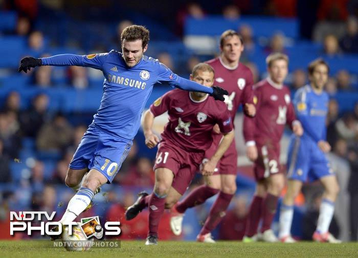 Juan Mata starred for Chelsea at Stamford Bridge as Chelsea will take a comfortable two-goal advantage to Russia for the second leg.
