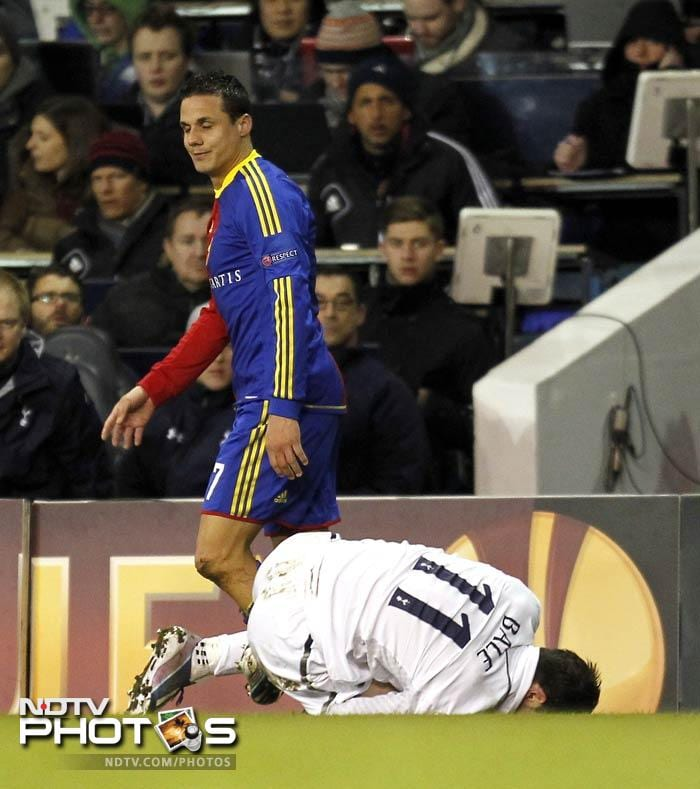 Tottenham suffered a potentially serious setback as Gareth Bale was stretchered off with an ankle injury in the final moments of the tie.