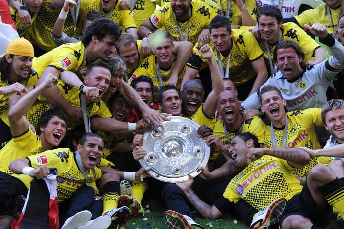 <b>Borussia Dortmund</b> <br><br> The German Bundes Liga has had its share of surprise winners over the past few seasons but with a Bayern Munich side marred with transfers failing to pose a threat to the title, Borussia Dortmund took advantage of the situation by opening up a significant lead at the top