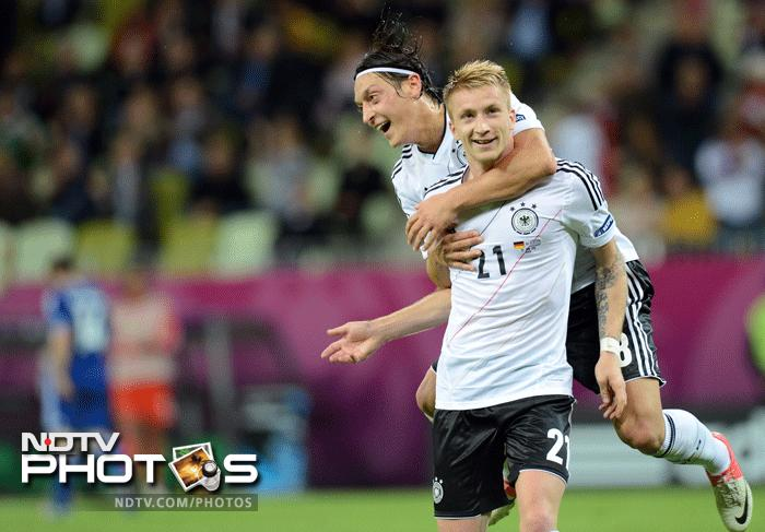 Marco Reus put the final nail into the coffin of the Greeks as the Germans went up by 4 goals to 1 and the match was no more a contest. (AFP Photo)