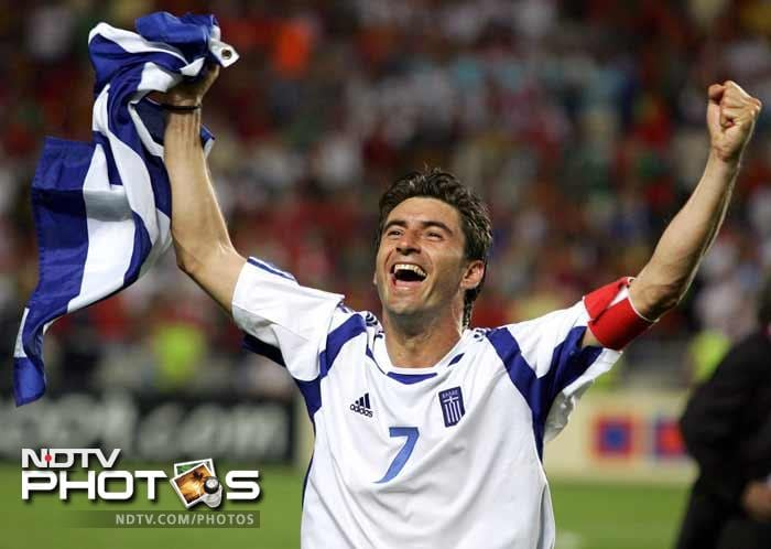 <b>Theodoros Zagorakis (Greece)(2004):</b> After Denmark's triumph in 1992, 2004 saw another underdog take the coveted prize when Greece outwitted other biggies to win the title. The mainstay of their campaign was Zagorakis, their captain. His prowess as a defensive midfielder was the key in keeping the opposition at bay. In the 1-0 win over Portugal in the final he ensured that Luis Figo and company never got a clear shot on goal. By stifling their opponents, Greece used defence as the best form of attack and it eventually won them their first European Championship. He was nominated for the FIFA World Player of the Year and the European Player of the Year in 2004.