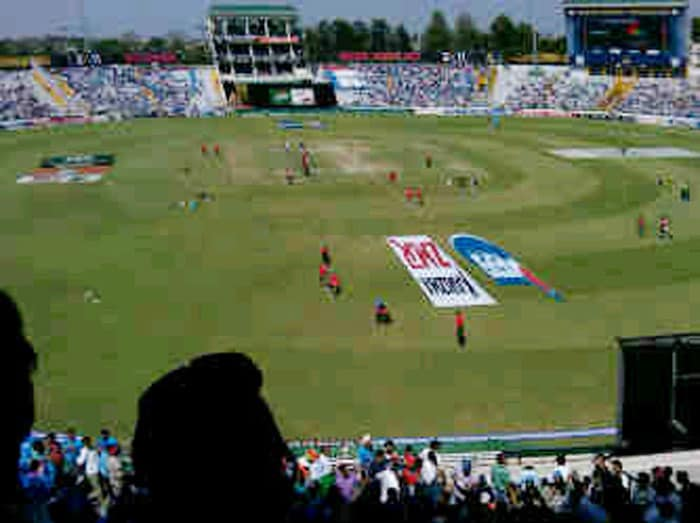 """Madhur Bhandarkar posted a pic of the stadium on Twitter - """"Here is the first pic of Mohali amidst the euphoria of cricket... Jai Hind"""""""