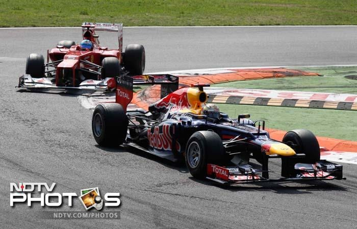 Sebastian Vettel of Red Bull was one of the disappointments in a race that saw Mercedes McLaren's Jenson Button to unable to complete the race at Monza. Both their cars suffered from mechanical glitches.