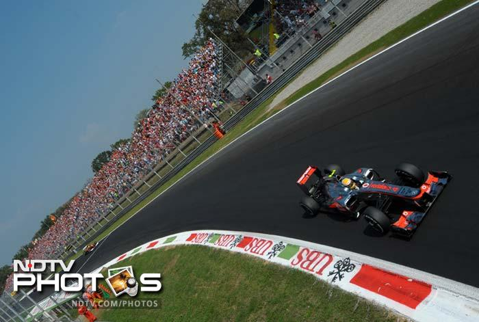 It was a rather relaxed Italian GP for Lewis Hamilton as he drove mostly unchallenged at Monza.