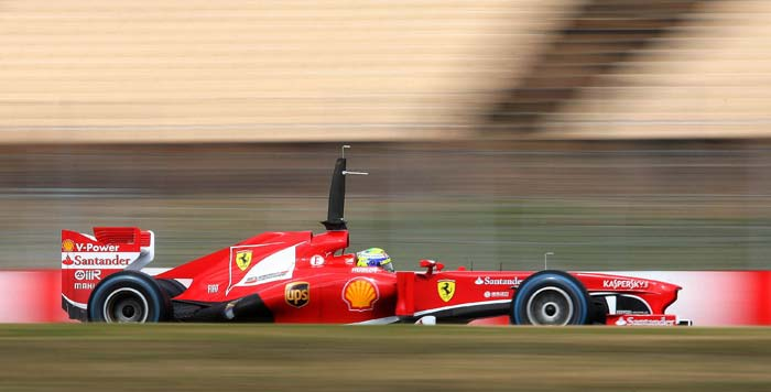 Brazilian Felipe Massa was the second quickest and posted a time of 1:41.848 40 in his Ferrari.