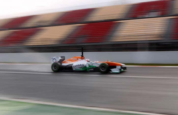 Sahara Force India's Paul di Resta was tad slower than Mark Webber and was the fifth quickest. <br><br> Later in the day, Force India confirmed appointing Adrian Sutil as di Resta's partner for the 2013 season.