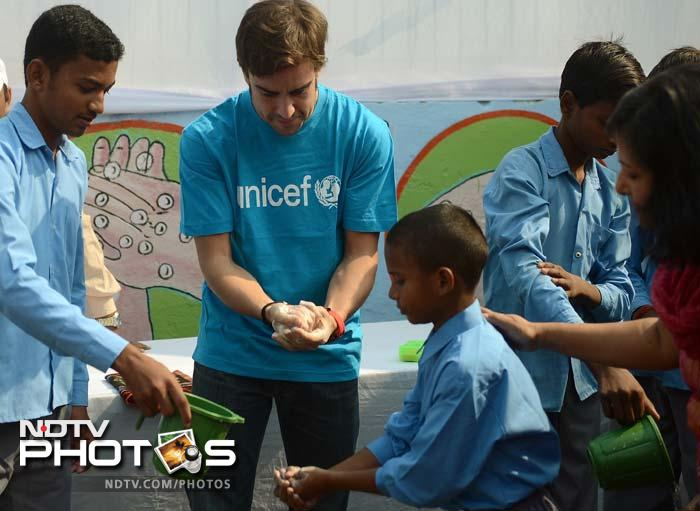The Spaniard was also seen at a UNICEF event to promote healthy habits including washing hands. While it is highly unlikely that the children present would have been his ardent fans, the message sent out is of the essence. (AFP Photo)