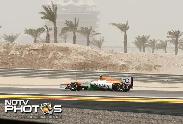 Force India's Paul di Resta finished on a strong note and took the sixth spot. Teammate Nico Hulkenberg was 12th.