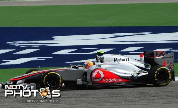 Lewis Hamilton finished eight while McLaren teammate Jenson Button had a futile session, taking the 18th position.