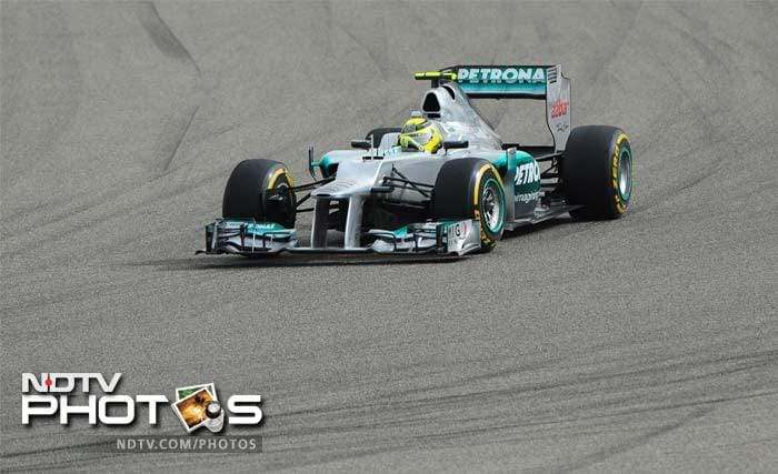 Michael Schumacher had a grid penalty against him but the veteran managed to fight his way to the tenth spot.