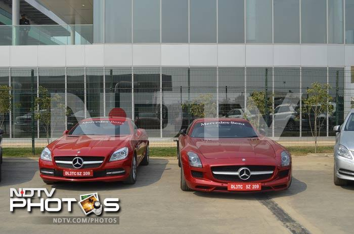 Mercedes is providing these gorgeous machines, called Safety Cars for those unfamiliar with F1 terminology, for the Indian leg of the race. Photo: Swati Kothari/NDTV