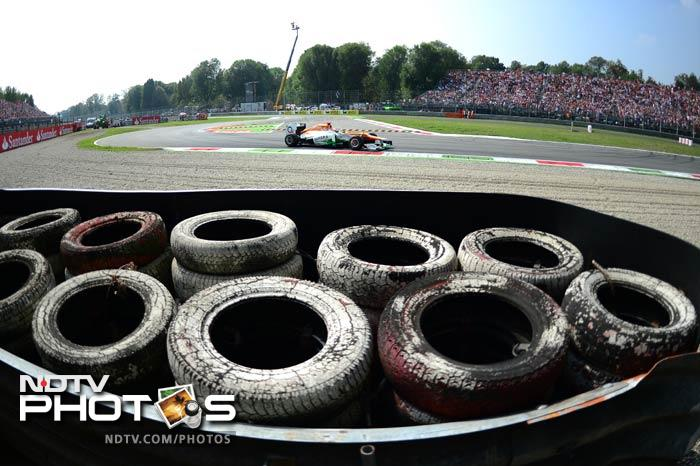Seen and read enough about F1 timings and races. Here are shots of the famous Monza track and of all that go on to make this one of the most exciting race in the calender. These AFP images are from the 2012 season.
