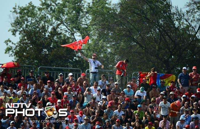 And the Italians absolutely love their pracing horse. Ferrari enjoys maximum support here.