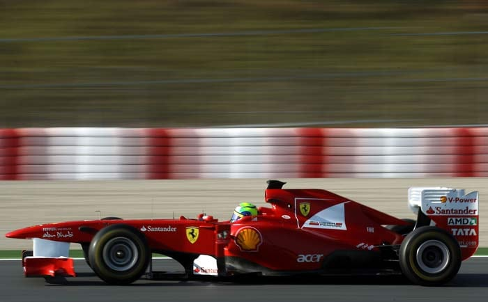 Felipe Massa(Brazil) of Ferrari starts in seventh position. (Getty Images)