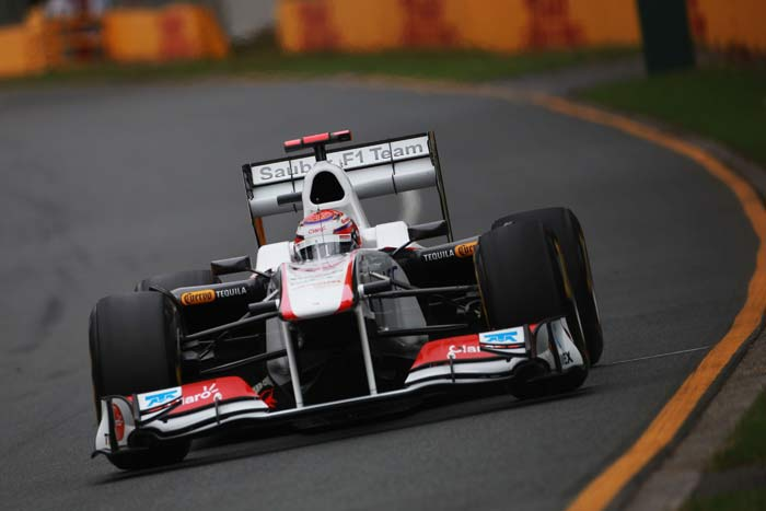 Kamui Kobayashi(Japan) starts in eighth position in his Sauber. (Getty Images)