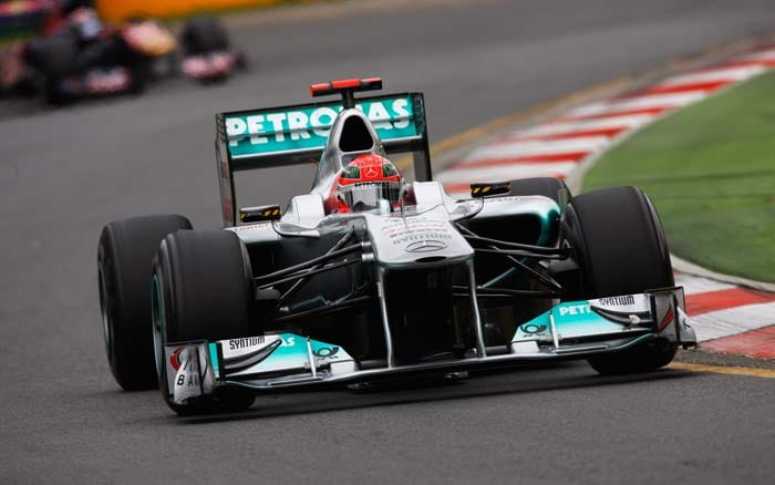 Michael Schumacher(Germany) will start in eleventh position in his Mercedes. (Getty Images)