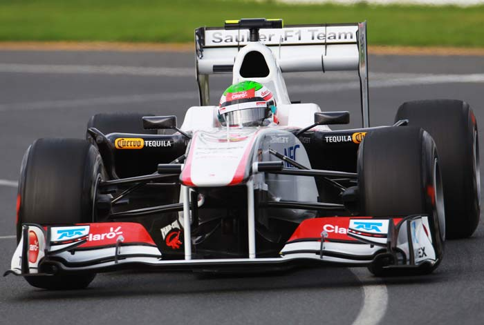 Sergio Perez(Mexico) will start in 13th position in his Sauber. (Getty Images)