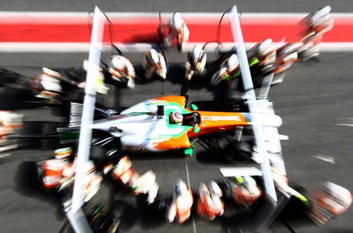 Force India driver Paul Di Resta(Britain) will start in 14th position. (Getty Images)