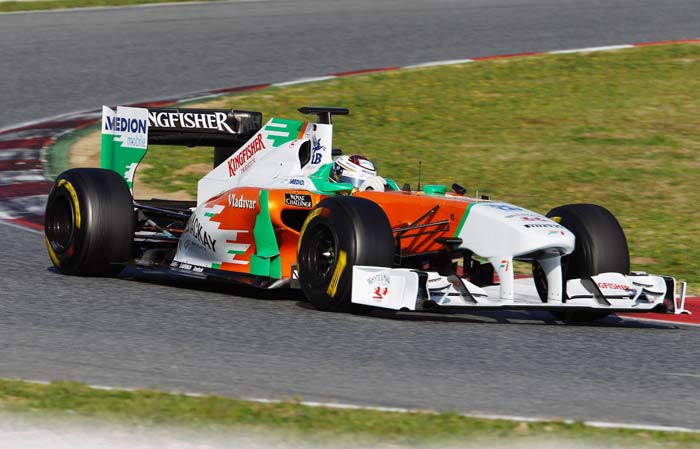 Adrian Sutil(Germany) of Force India will start in 16th position. (Getty Images)