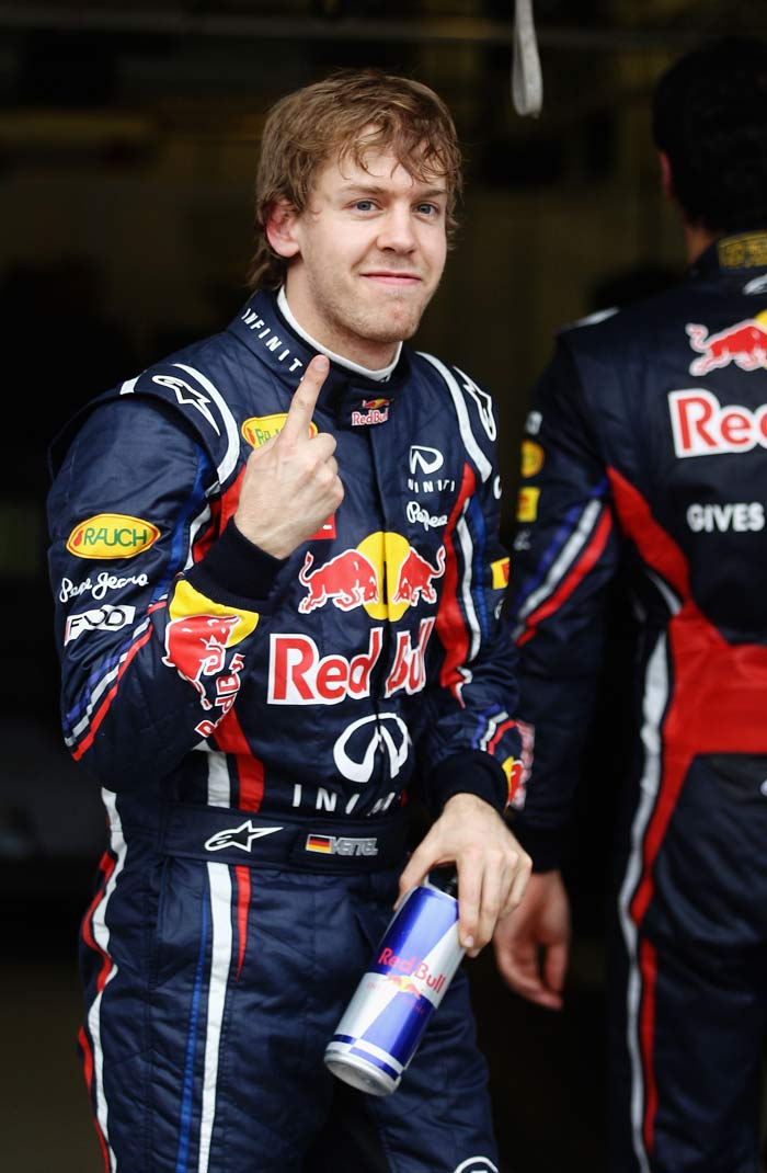 Sebastian Vettel (Germany) of Red Bull starts from pole position. (Getty Images)