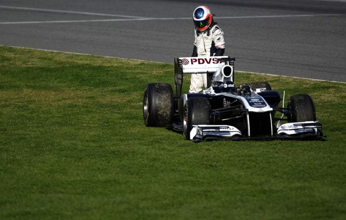 Rubens Barrichello(Brazil) will start in 17th position in his Williams. (Getty Images)