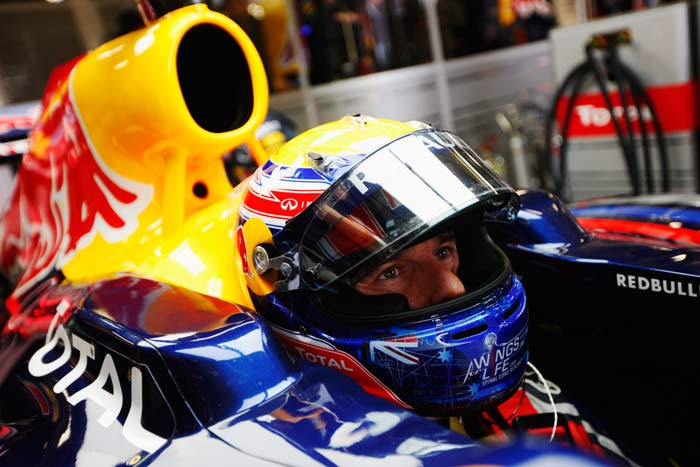 Mark Webber(Australia) of Red Bull starts from the third position. (Getty Images)