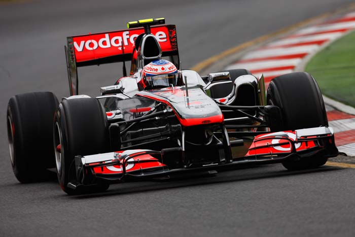 Jenson Button(Britain) of McLaren starts in fourth posiition. (Getty Images)