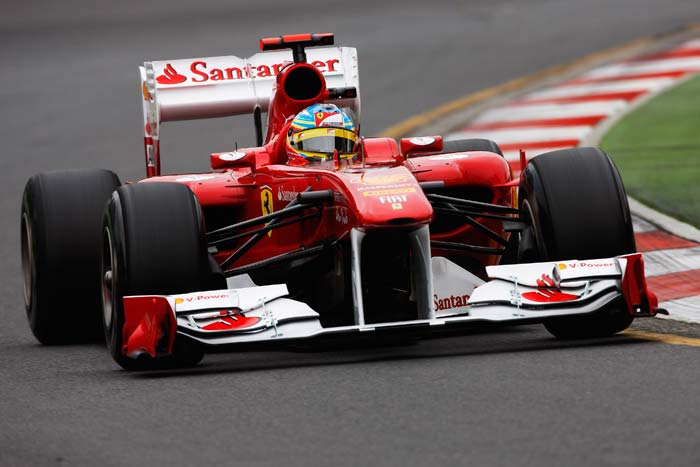 Fernando Alonso(Spain) of Ferrari starts in the fifth position. (Getty Images)