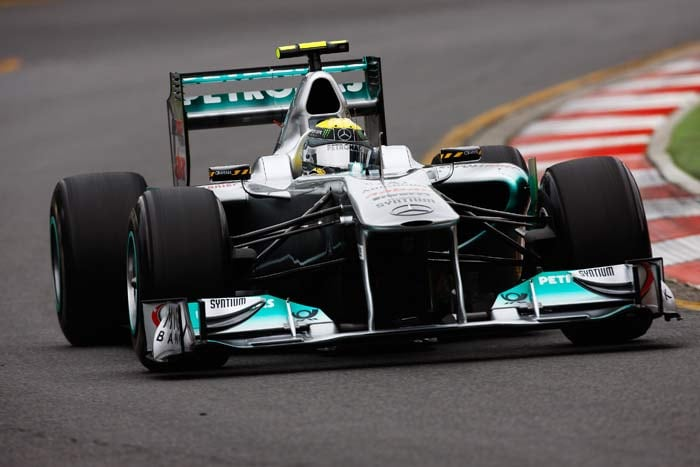 Nico Rosberg(Germany) starts in seventh position in his Mercedes. (Getty Images)