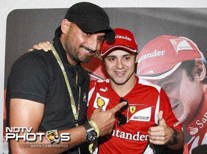 Harbhajan Singh at the Formula One Indian Grand Prix at the Buddh International circuit in Greater Noida. (PTI Photo)