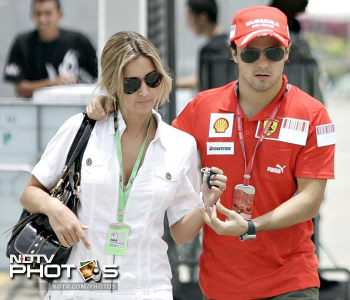 """<b>Anna Rafaela Bassi:</b> Ferrari driver Felipe Massa married Anna Raffaela Bassi on November 30, 2007, in Sao Paulo, Brazil. Massa has said, """"If I hadn't been fired from Sauber at the end of my first season in 2002 maybe I would not even have met her. Who knows? I was back home in Brazil and I went to a friend's house at the beach. This guy was going out with a girl and she was a friend of Rafaela."""""""