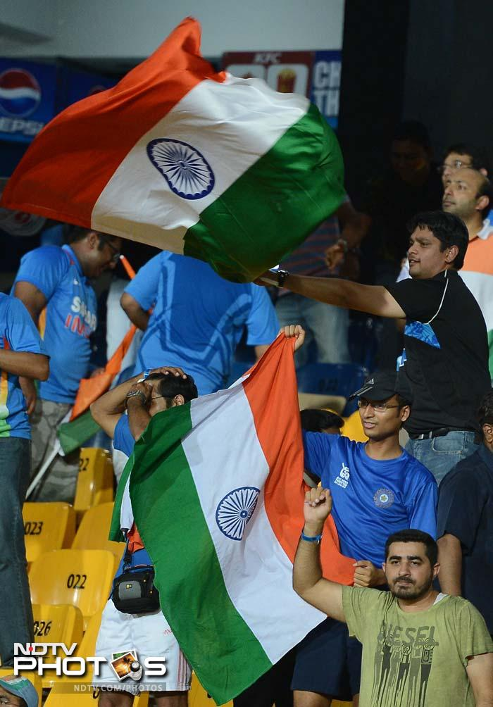 Indian fans though, at the stadium, were not complaining. Yuvraj had struck with two wickets, Kohli had one to show for his efforts and L Balaji had three.