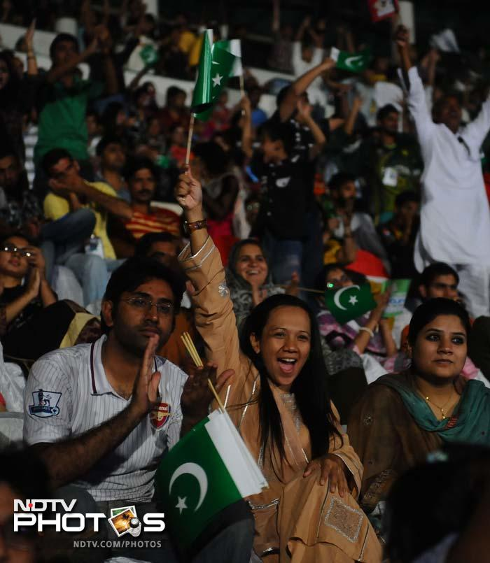 Sehwag's eventual wicket brought some joy again but India had already raked in more than half the runs needed.<br><br>The celebrations on this side of the border though went on quite late into the Sunday night.