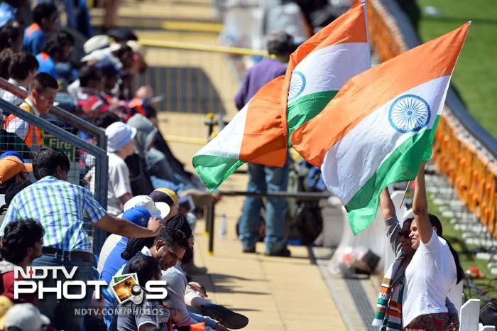 Cardiff, where the opening two warm-up matches were played by India, has a large community of Indians, especially students enrolled in the University here. <br><br>They were in the Swalec Stadium with their tri-colours to cheer for their players.
