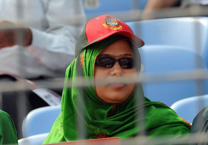A Bangladesh supporter looks on during the Cricket World Cup opening match between India and Bangladesh. (AFP Photo)