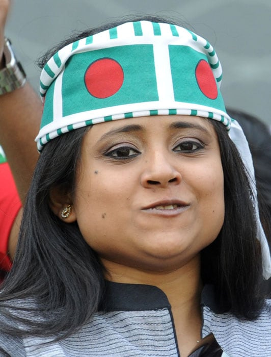 A spectator looks on during the Cricket World Cup opening match between India and Bangladesh. (AFP Photo)