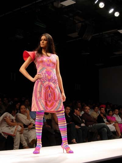 Ashish Pandey used bright colours and unconventional patterns for his designs