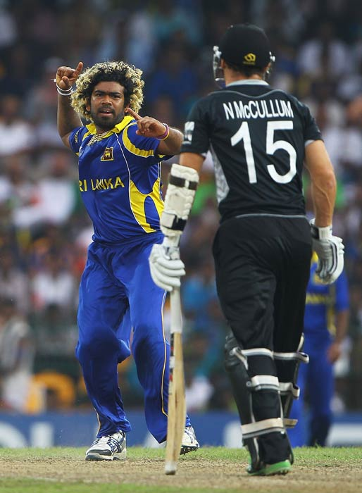 <b>Lasith Malinga:</b> The Lankan speedster matched Steyn's pace during the 2011 World Cup against the same opponent, New Zealand, in Mumbai. (Getty Images)