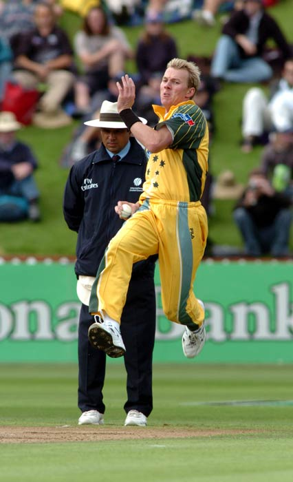 <b>Brett Lee:</b> The Australian pacer unleashed the fastest delivery against New Zealand in March 2005. He clocked 160.8 kmph in the first over of the 5th ODI in Napier. In 2003, Lee had clocked 160.7 kmph against England during the World Cup. (Getty Images)