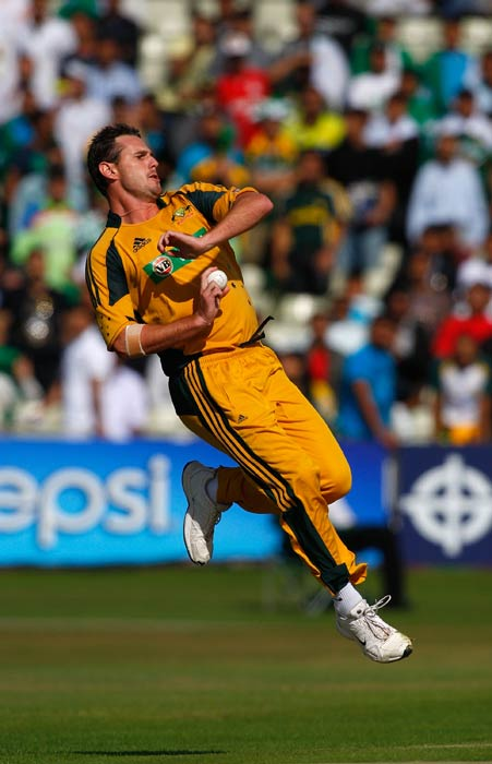 <b>Shaun Tait:</b> In 2010, in the one-off T20 International match against Pakistan, Shaun Tait bowled the fastest delivery on the Australian soil. In Melbourne, he clocked 160.7 kmph and also finished with figures of 3/13. (Getty Images)