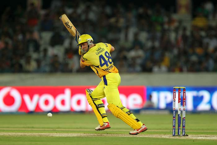 Michael Hussey was in good knick as he hit 67 from 42 balls. (BCCI Image)
