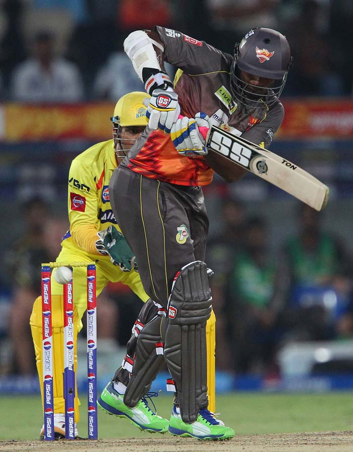 Thisara Perera hit 23 and Karan Sharma scored 39 not out but it was all in vain as Hyderabad ended at 146/8. (BCCI Image)