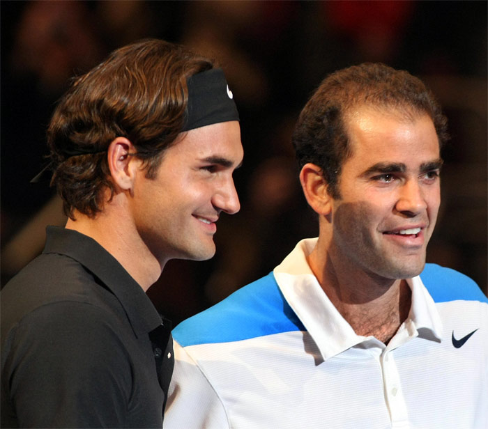 <b>2001</b>: Federer's first ATP tournament victory came in February 2001 where he defeated French player Julien Boutter in the final of the Milan Indoor. During the same month, he won three matches for his country in its 3–2 Davis Cup victory over the United States. He later reached the quarter-finals at Wimbledon, as the No. 15th seed, defeating four-time defending champion and seven-time Wimbledon winner Pete Sampras 7–6(7), 5–7, 6–4, 6–7(2), 7–5 in the fourth round in an epic five-set match. This defeat ended Sampras' 31-match winning streak in the tournament. He also managed to reach the quarter-finals at the French Open. He finished the year ranked 13th. (Wikipedia)