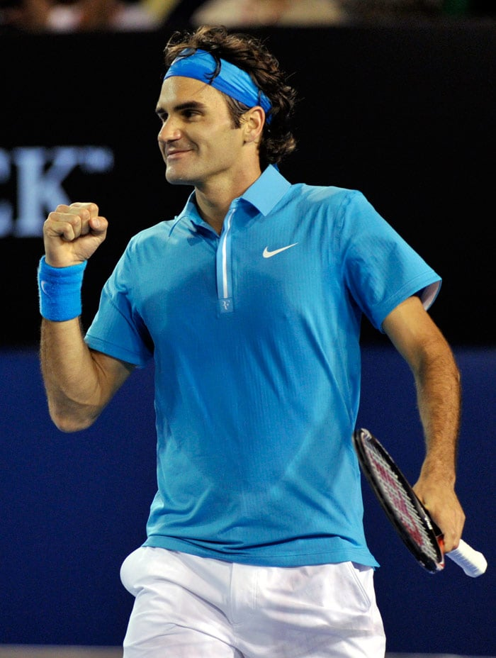 <b>2010</b>: Federer won his 16th Grand Slam at the Australian Open. He beat Britain's Andy Murray 6-3, 6-4, 7-6 (11) for a fourth championship in Melbourne. (AP Photo)
