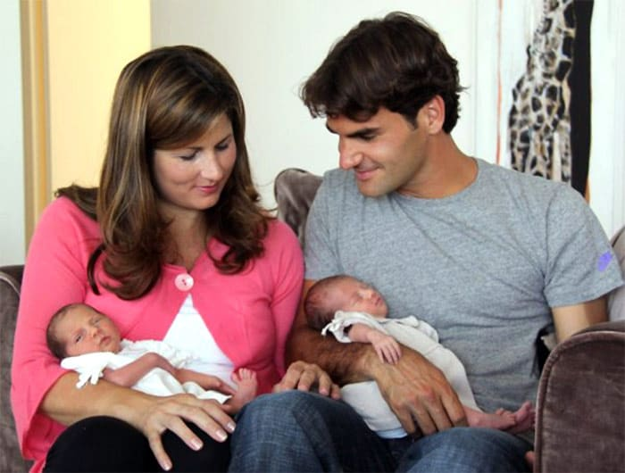 On July 24, 2009, Federer announced on his Facebook page that Mirka had given birth to twin girls, Myla Rose and Charlene Riva, on the previous day. (Wikipedia)