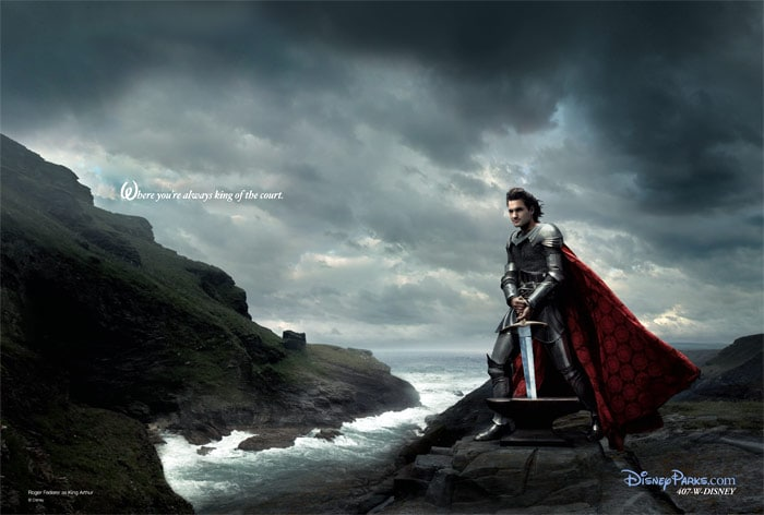 In 2007, Federer featured in one of three Annie Leibovitz images to celebrate Disney Parks' 'Year of a Million Dreams'. Disneyland Resort in California and Walt Disney World Resort in Florida commissioned Leibovitz to create images featuring international celebrities in fairy tale settings. (Photo Courtesy: Disneyland Resort)